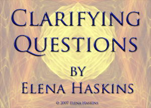 Clarifying Questions by Elena Haskins