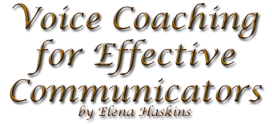 Voice Coaching for Communicators by Elena Haskins